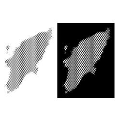 Halftone greek rhodes island map vector