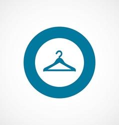 Hanger bold blue border circle icon vector