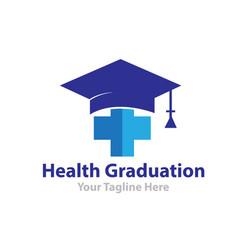 health graduation logo designs vector image