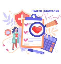 Health insurance concept healthcare finance vector