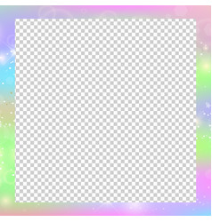holographic magical square frame with fairy vector image
