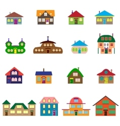 House cartoon set vector image