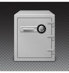 Icon metal box on transparent background safe vector