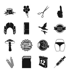 Medicine hairdresser kitchen and other web icon vector