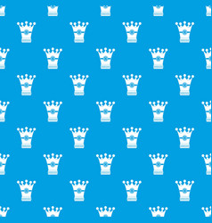 medieval crown pattern seamless blue vector image