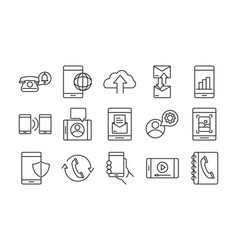 mobile phone or smartphone electronic technology vector image