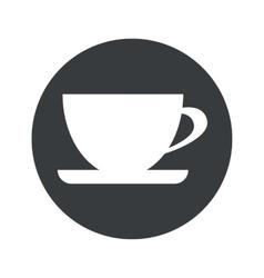 Monochrome round cup icon vector