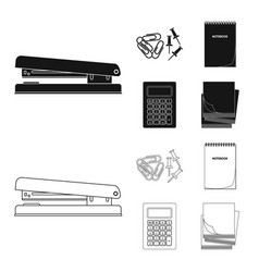 Office and supply icon set vector