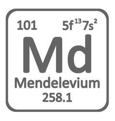 periodic table element mendelevium icon vector image