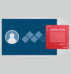 profile quote banner template for print with vector image