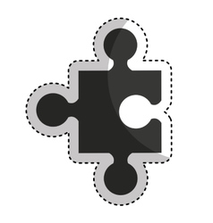 Puzzle piece isolated icon vector