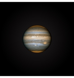 Realistic planet jupiter vector