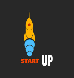 rocket - a symbol of the beginning of business vector image
