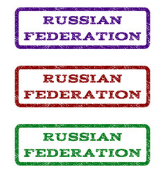 russian federation watermark stamp vector image