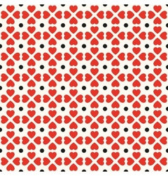 Seamless geometric pattern with hearts and dots vector