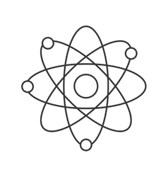 simple atom icon vector image