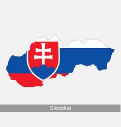 Slovakia map flag vector