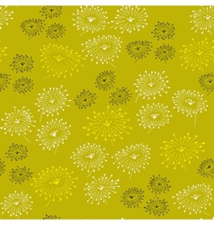 Spring seamless pattern with abstract flowers vector image