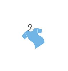 T-shirt clothes hanger and tee logo design vector