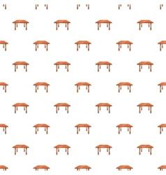 Table pattern cartoon style vector