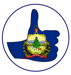 Thumbs up vermont vector