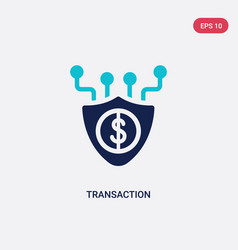 Two color transaction icon from big data concept vector