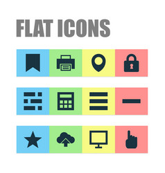 user icons set with dashboard lock arrow and vector image