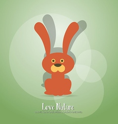 With nature and rabbit vector