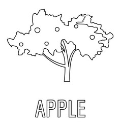 apple icon outline style vector image