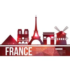 France travel background with place for text vector image