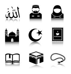 Set of Islam icons vector image