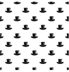 Silk hat pattern vector