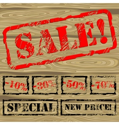 background with stamp SALE vector image
