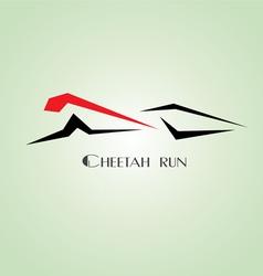 Cheetah run vector image vector image
