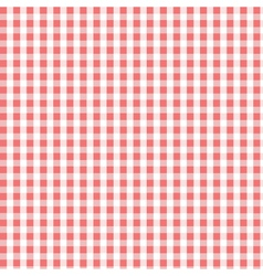 seamless red plaid pattern vector image