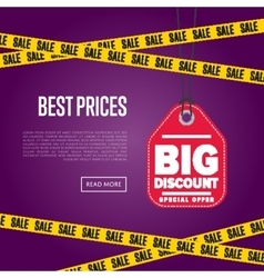 Best price banner with sale sticker vector
