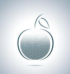 Digital apple vector image vector image