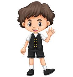 Little boy waving hand vector