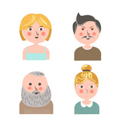 people face avatars for applications or web vector image vector image