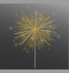 festive bengal light lighting magical fireworks vector image