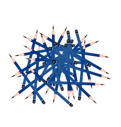Group of Sharpened Pencils on White Background vector image vector image