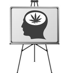 hemp in brain vector image