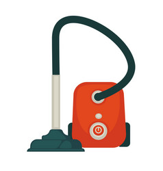 modern powerful hoover in orange corpus isolated vector image vector image