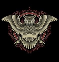 owl crest vector image