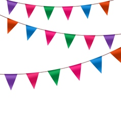 Set Colorful Buntings Flags Garlands for Holiday vector image vector image