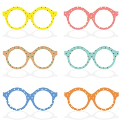 Set of colorful eyeglasses vector