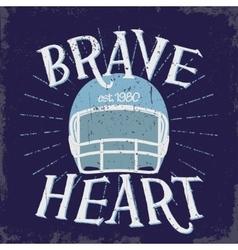 Sport Typography Football Logo vector image vector image