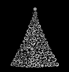 The Abstract Christmas Tree vector image