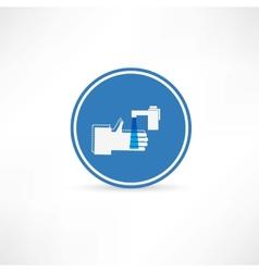 Wash hands icon vector