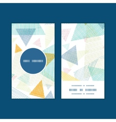 abstract fabric triangles vertical round frame vector image